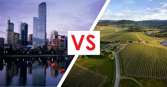 Metro vs regional property prices