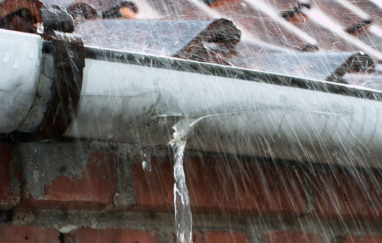 Broken Gutter home insurance